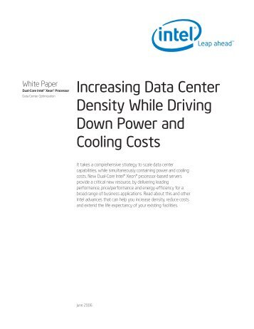 Increase Data Center Density White Paper. - Intel