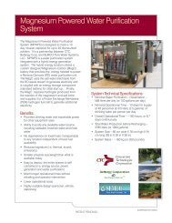 Magnesium Powered Water Purification System