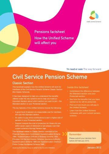 Decision factsheet - Civil Service Pension Scheme Classic Section