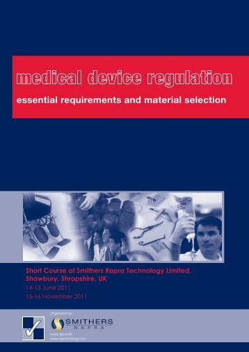 essential requirements and material selection - Smithers Rapra