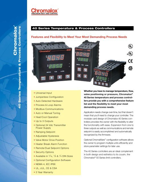 40 Series Temperature and Process Controllers Brochure