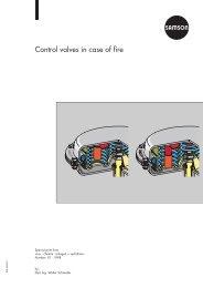 Control valves in case of fire - Samson Regeltechniek