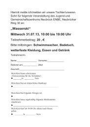 Mittwoch 31.07.13, 10:00 bis 19:00 Uhr - Ostheim-neubrueck.de