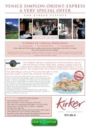 venice simplon orient-express a very special offer - Travel Club Elite