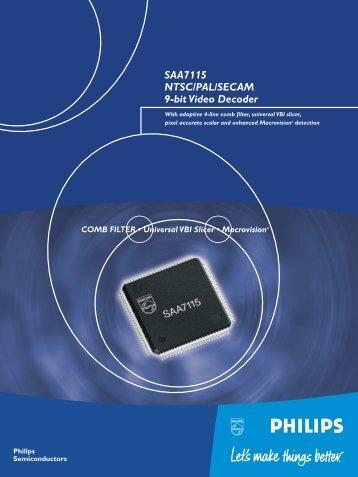 SAA7115 NTSC/PAL/SECAM 9-bit Video Decoder