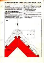 Montering af KT-topplanke med ventilation, rev. udg. - Mur