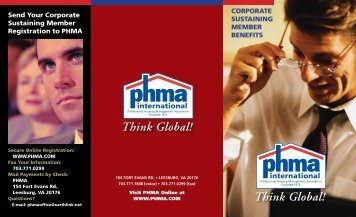 corporate member benefits - Join PHMA!
