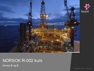 NORSOK R-002 kurs