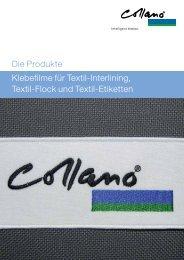 Klebefilme für Textil-Interlining, Textil-Flock und Textil ... - Collano