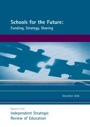 Cover Schools for Future spine - Department of Education Northern ...