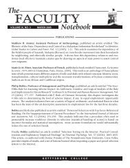 Faculty Notebook 05.indd - Gettysburg College