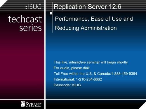 Replication Architecture - Sybase