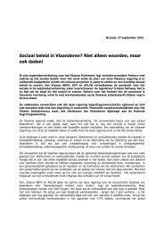 Een reactie van ACLVB, ACV en ABVV op de Septemberverklaring ...
