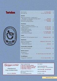 Tartalom Tartalom - Magángyógyszerészek Országos Szövetsége
