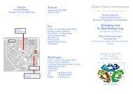 Programm - Interdisziplinäres Stoffwechsel-Centrum