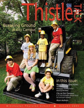Breaking Ground - Winchester Thurston School