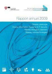 Rapport annuel 2009 - Réseau plasturgie