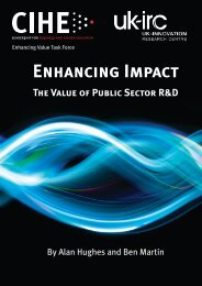 Enhancing Impact - Centre for Business Research - University of ...