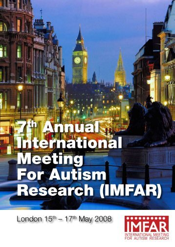 7th Annual International Meeting For Autism Research ... - Confex