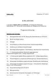 Protokoll der 391. Gemeinderatssitzung am 7. Oktober 2013