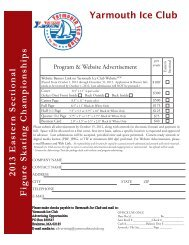 Eastern Program and Ad Form - Yarmouth Ice Club