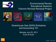 Greenhouse Gases 101 Presentation - Chevron Refinery Revised ...