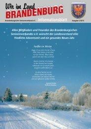Infoblatt 3/2013 - Brandenburgischer Seniorenverband eV