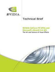 NVIDIA GeForce FX GPUs and Microsoft's DirectX 9.0 API - PNY