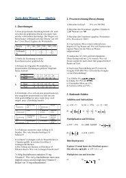 Teste Dein Wissen Algebra 7 - Evangelisches Gymnasium ...