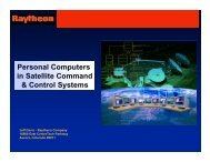 Personal Computers in Satellite Command & Control Systems
