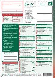 ANFORDERUNGSBOGEN - biovis´ Diagnostik MVZ GmbH