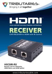 HXC6IR-RX - CAT6 Receiver to HDMI with IR ... - Tributaries Cable