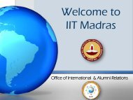 IITM Presentation - International Relations