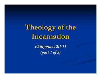 Theology of the Incarnation