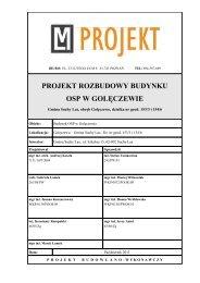 projekt rozbudowy budynku osp w golęczewie - Gmina Suchy Las