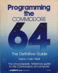Compute's Programming the Commodore 64, The Definitive ... - Home