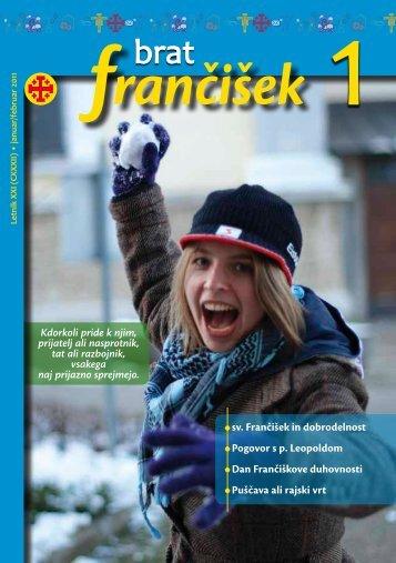 Urednikova beseda bf 1/2011 - Frančiškani v Sloveniji