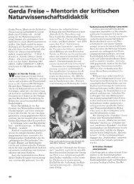Gerda Freise r Mentorin der kritischen