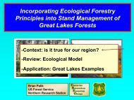 Incorporating Ecological Forestry Principles into Stand Management ...