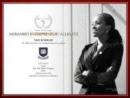 Harambe Yale Scholar - 2014 Flyer