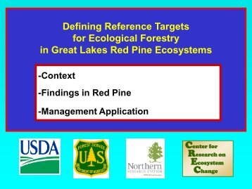Defining Reference Targets for Ecological Forestry in Great Lakes ...