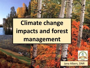 Climate change impacts and forest management