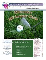 Milwaukee SPE Newsletter June 2005 - SPE-Milwaukee Section