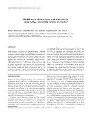 Model water disinfection with electrolysis using Ti O containing ...