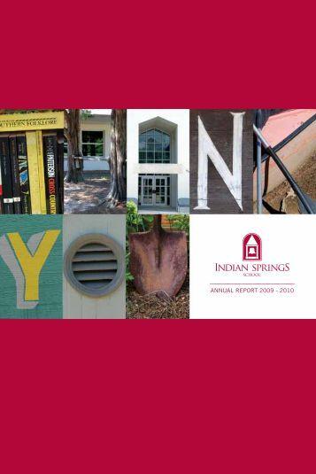 ANNUAL REPORT 2009 - 2010 - Indian Springs School