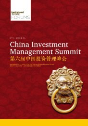 6th Annual China Investment Management Summit September 12-13 ...
