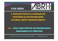 Download da palestras - Associação Brasileira de Recursos Hídricos