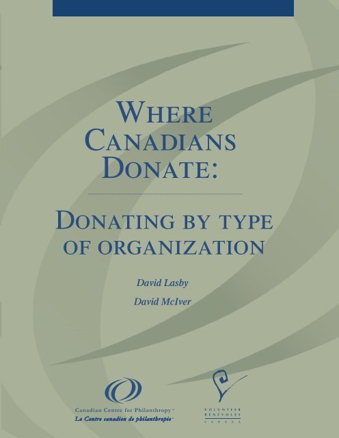 Where Canadians donate : donating by type of ... - Imagine Canada