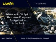 Advances in Oil Spill Response Equipment for Application in the Arctic