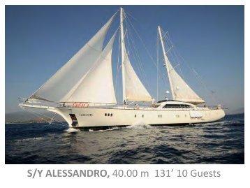 SY Alessandro - Paradise Yacht Charters